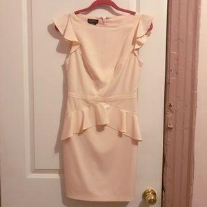 Bebe pink peplum dress - size 4
